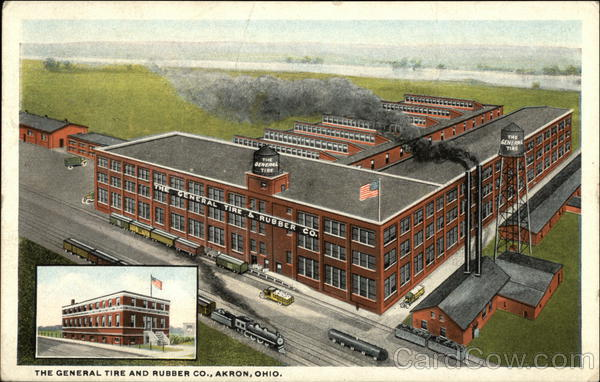 The General Tire And Rubber Company Akron Oh Postcard