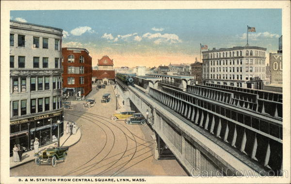 B & M Station from Central Square Lynn Massachusetts