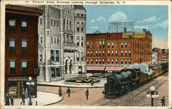 Empire State Express Passing Through Syracuse New York