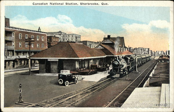 Canadian National Station Sherbrooke Canada Quebec