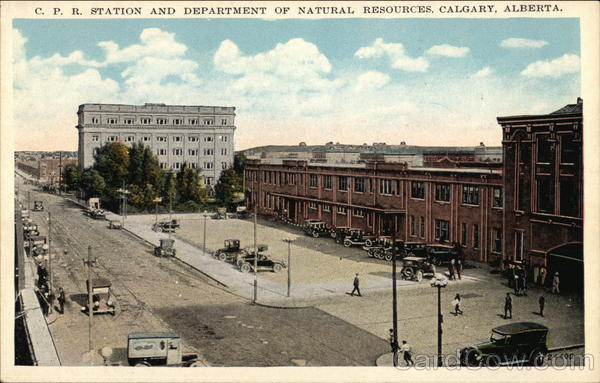 CPR Station and Department of Natural Resources Calgary Canada