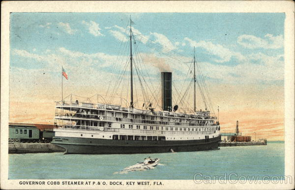 Governor Cobb Steamer at P&O Dock Key West Florida