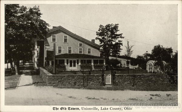 the old tavern of lake county unionville oh postcard. Black Bedroom Furniture Sets. Home Design Ideas