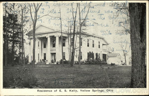 Residence of ES Kelly Yellow Springs Ohio