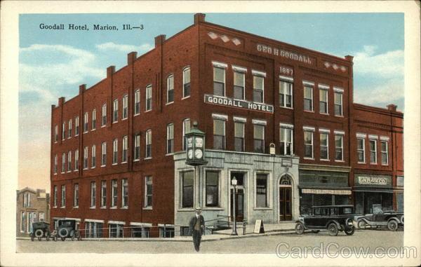 Goodall Hotel Marion Il Postcard