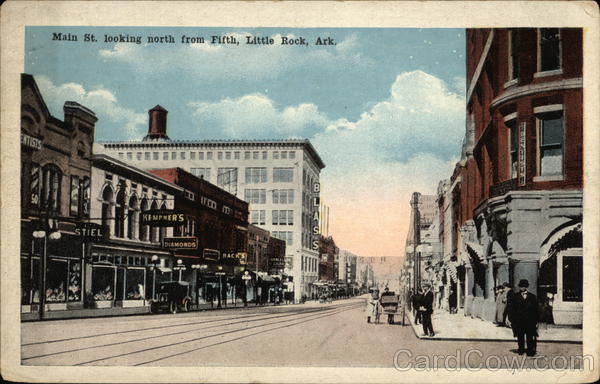 Main Street looking north from Fifth Little Rock Arkansas
