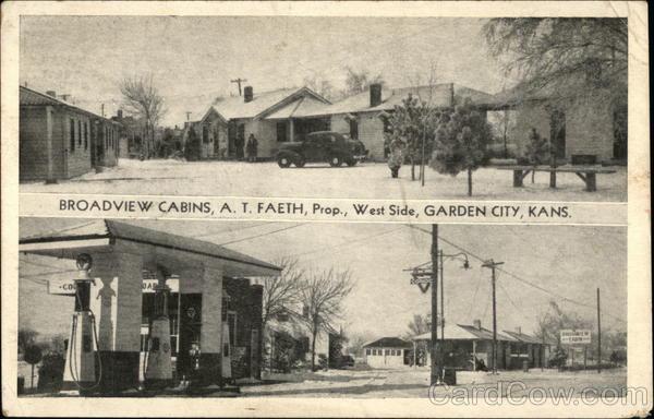 Broadview Cabins - AT Faeth Proprietor - West Side Garden City Kansas
