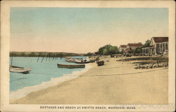 Cottages and Beach at Swifts Beach Wareham Massachusetts