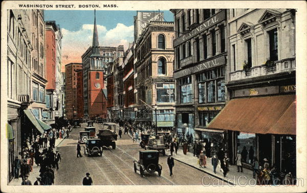Washington Street View Boston Massachusetts