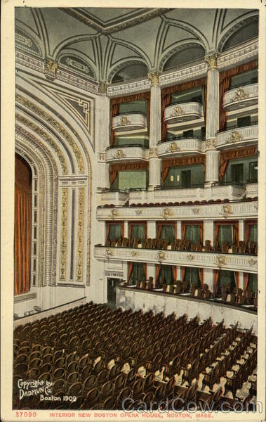 Interior View of New Boston Opera House Massachusetts