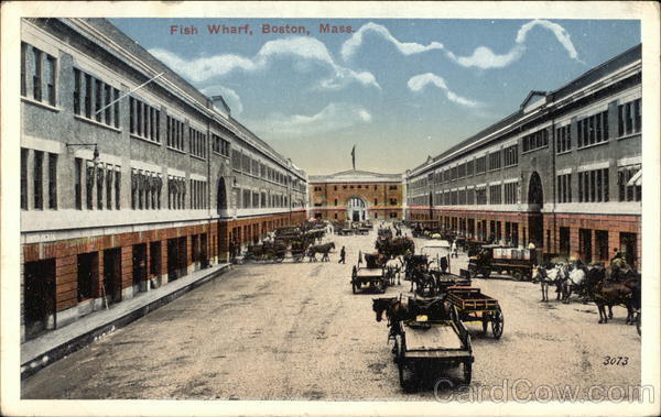Fish Wharf Boston Massachusetts