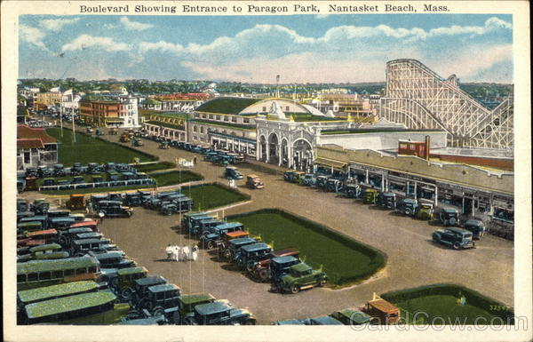 Boulevard showing Entrance to Paragon Park Nantasket Beach Massachusetts