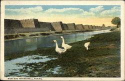 Moat and Tartar Wall - Mailed from China Stamp