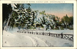 Pinehurst Road in Winter, Saranac Lake