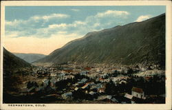 Scenic View of Mountains with Town in the Valley Postcard