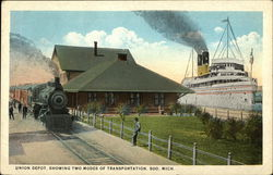 Union Depot, showing two Modes of Transportation