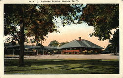 NYC Railroad Station Postcard