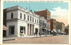 West Main Street Looking East, National Gas & Electric Light Co.