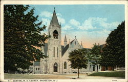 Central ME Church Postcard