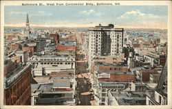 View of Baltimore Street, West from Continental Building