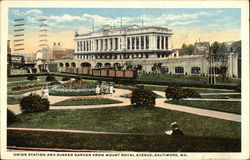 Union Station and Sunken Garden from Mount Royal Avenue