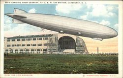 Zeppelin ZR-3 Arriving from Germany at US. Naval Air Station