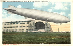 Zeppelin ZR-3 Arriving at US. Naval Air Station