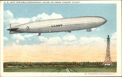 U.S. Navy Dirigible Shenandoah Leaves on Cross Country Flight