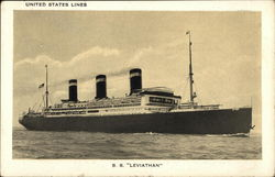 "S. S. ""Leviathan"" - United States Lines"