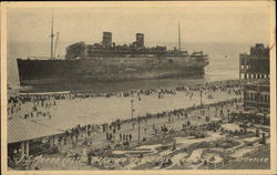 "S.S. ""Morro Castle"" Aground at Asbury Park, NJ"