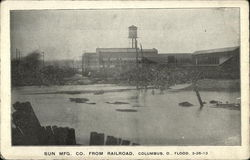 Flood View - Sun Manufacturing Company from Railroad