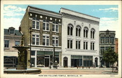 New Odd Fellows Temple Maysville, KY Postcard