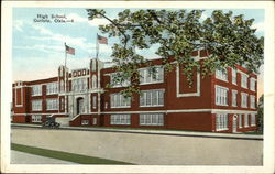 Street View of High School Postcard
