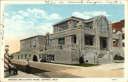 Mineral Wells Bath House Postcard