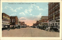 Chickasha Ave. Looking East Postcard