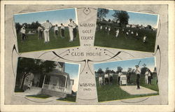 Wabash Golf Course and Club House Postcard