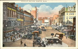 View of Busy Scollay Square