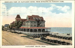 Bird's Eye View of Nantasket Hotel from Entrance to Paragon Park