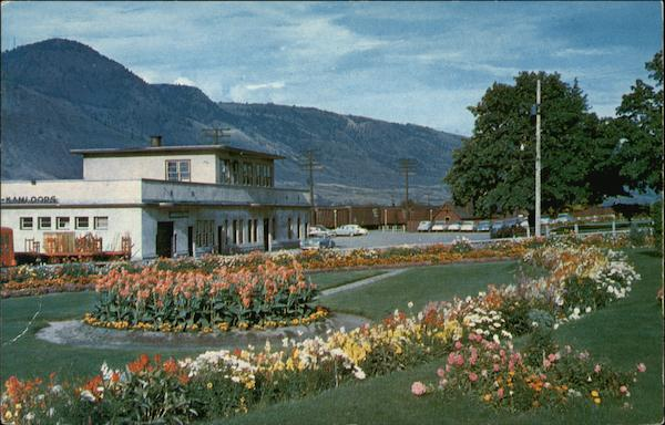 Canadian Pacific Railway Depot and Gardens Kamloops Canada