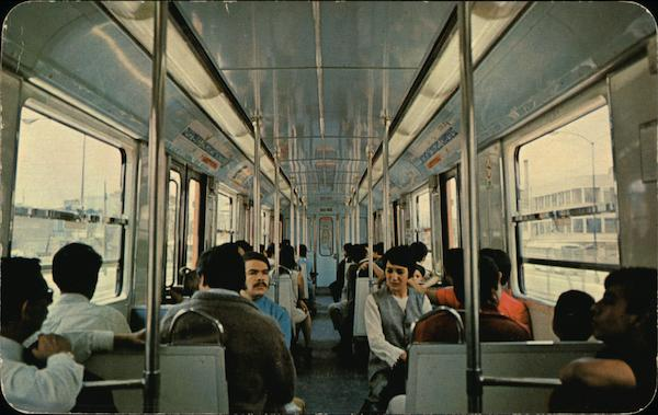 View of the Inside of One of the Metro Cars Mexico City