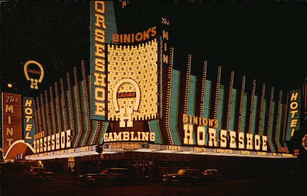 Very Popular Horseshoe Club in Casino Center Downtown Las Vegas Nevada