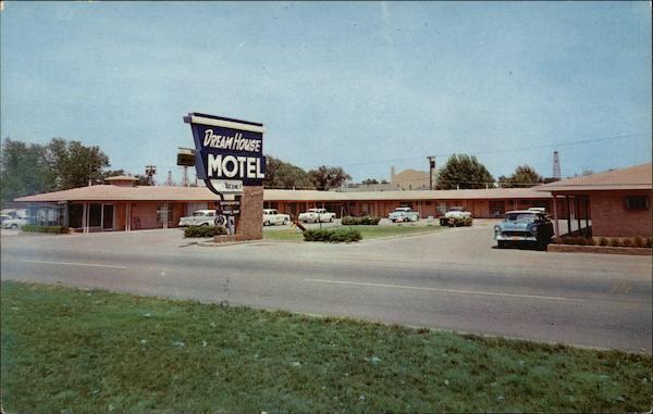 Dream House Motel Oklahoma City Ok Postcard