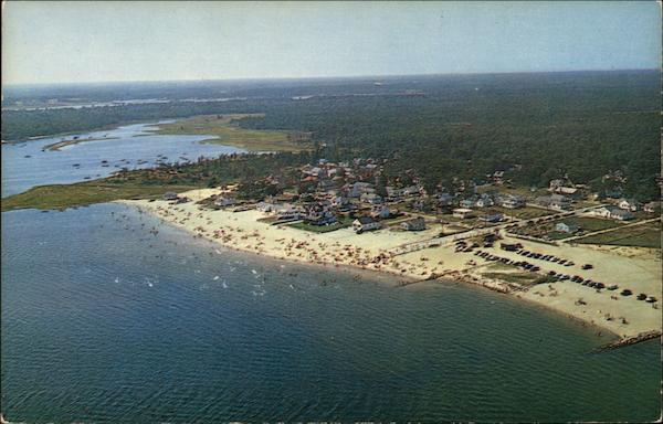 Aerial View of Swift's Beach Wareham Massachusetts