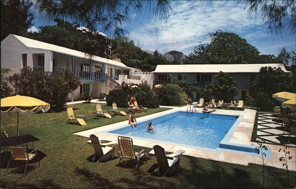 Air conditioned Verandah Rooms - Gardens and Swimming Pool Rosedon Bermuda