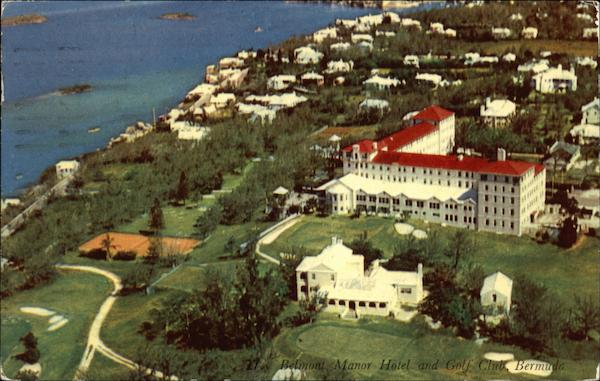 Aerial View of the Belmont Manor Hotel and Golf Club Bermuda