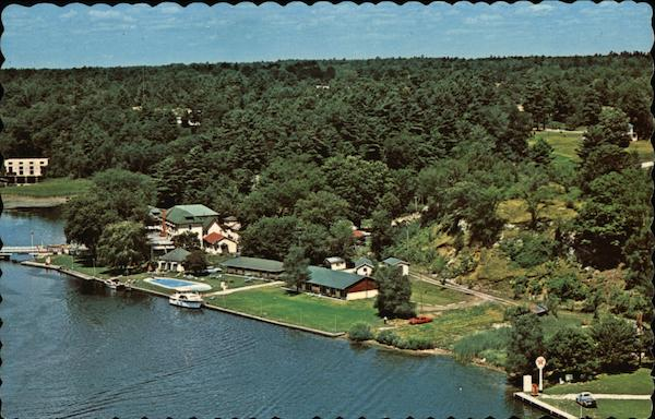 Aerial View of the Waterfront at Hotel Kenney Jones Falls Canada