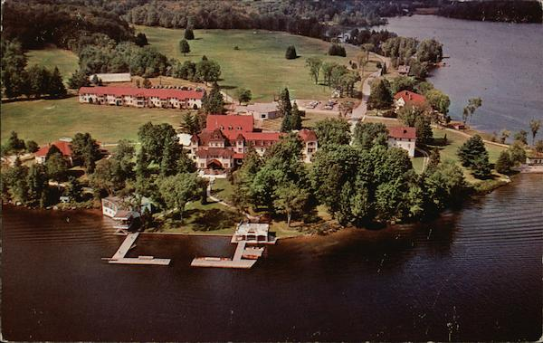 Aerial View of Elgin House Muskoka Canada Ontario