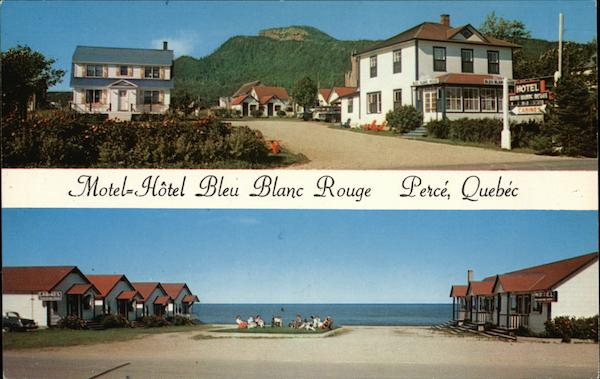 Hotel Bleu Blanc Rouge Perce QC Canada Quebec