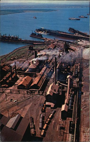 Aerial View of Dominion Steel and Coal Corporation Sydney Canada