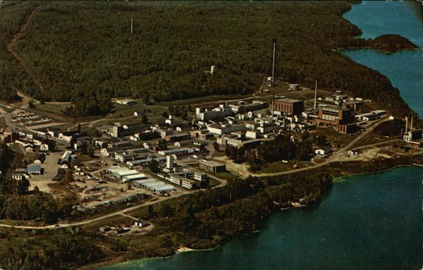 Aerial View of the Chalk River Nuclear Laboratories of Atomic Energy of Canada Limited Ottawa River ON